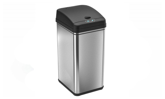 Itouchless 13 Gal Stainless Steel Automatic Trash Can With Odorcontrol Groupon