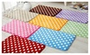 "17"" x 24"" Ultra Plush Polka Dot Memory Foam Bath Mat - Assorted Styles"