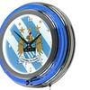 Premier League Manchester City Chrome Double Rung Neon Clock