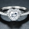 Barzel Heart Cut Engagement Ring Made with Swarovski Crystal