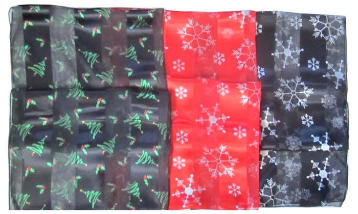 Christmas Holiday Oblong Satin Stripe Scarf in Choice of Design