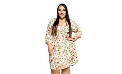 2d0ed1551ba Shop Groupon Xehar Women s Plus Size Casual Sexy V-Neck Floral Summer Party  Dress