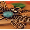 Retro Hollow Dragonfly Long Paragraph Sweater Chain Pendant Necklace