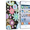 Insten Snap-on Hard Case For iPod touch 5 Black/ Flower Rear Style 9