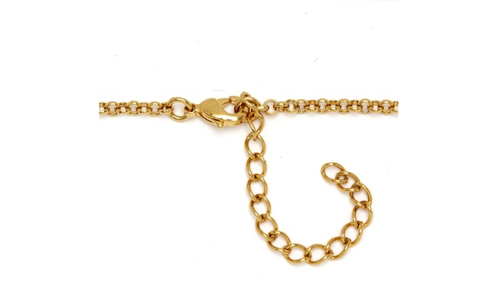 18k Gold Plated Two Tone Elephant Ankle Bracelet