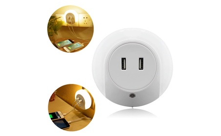LED Night Light with Dusk to Dawn Sensor and Dual USB Wall Charger 00db98bf-a37b-4130-848a-72f1c1c2e580