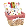 Trend Lab Dr. Seuss Bib and Burp Cloth Basket Gift Set, ABC