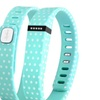 Zodaca TPU Large  Activity Tracker Clasp for Fitbit Blue Polka Dot