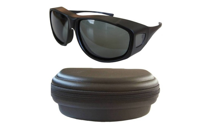Andevan 100%UV Polarized Cove Over Sunglasses Size XL+1 Fit Case