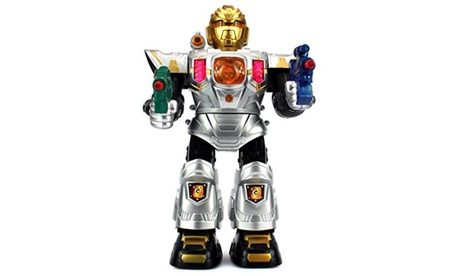Astro Space Warrior Battery Operated Toy Robot Figure w/ Walking Action 8c418aef-0244-4da2-960c-70c5f638f807