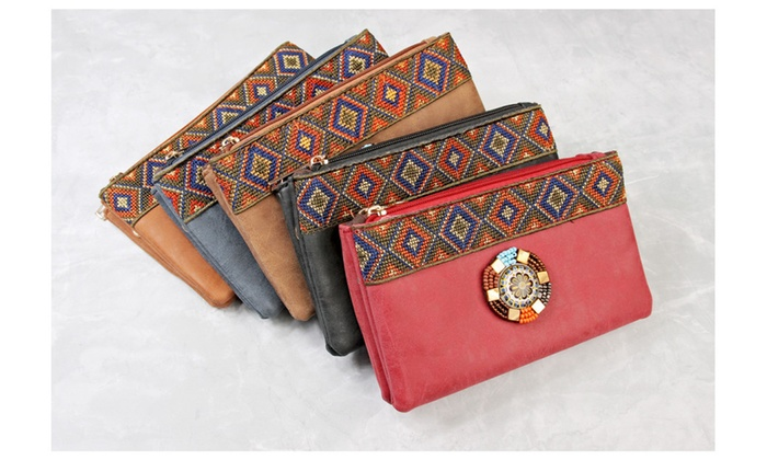 Tribal Wrist Strap Wallet/Shoulder Bag