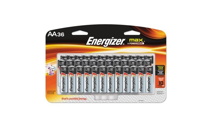 Energizer MAX Alkaline Batteries, AA, 36 BatteriesPack