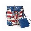 American Flag Mini Cross Body Purse & Credit Card Holder