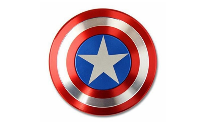 Hand Spinner Edc Toy Fidget Top Captain America Groupon
