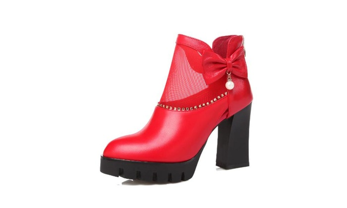 Women's Ankle Booties Zip Fashion Boots