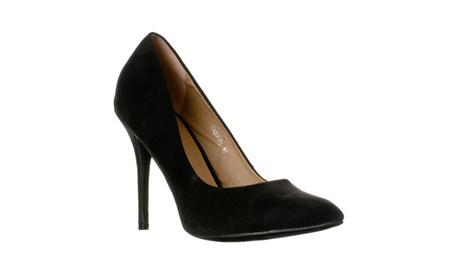 Riverberry Women's Gaby Pointed Closed Toe Stiletto Pump Heels 7e3eeb37-2eed-4064-ac7c-5bb238132cba