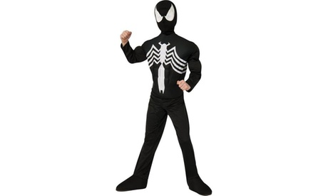 Ultimate Black Spider-Man Muscle Chest Kids Costume 5163a081-4db7-4700-a4ef-49497b144cfd