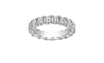 2.50 ct Ladies Round Cut Diamond Eternity Wedding Band Ring