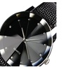 Stainless Steel Dial Quartz Sport Military Leather Band Wrist Watch