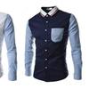 Men's Fashion Slim Fit Long Sleeve Pocket Dress Shirts
