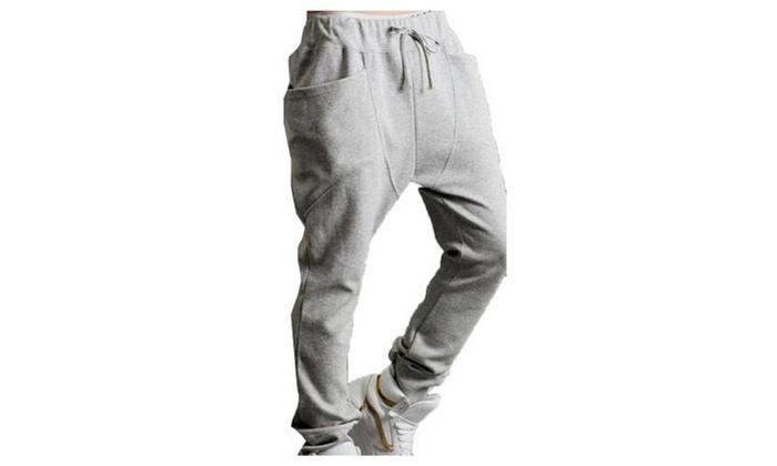Hisreina: Men Casual Dance Baggy Sport Sweat Slacks Harem Pants