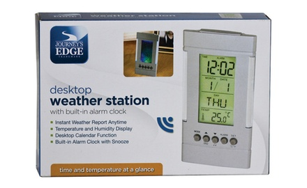 DESKTOP WEATHER STATION W/ BUILT-IN ALARM CLOCK