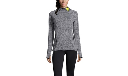 MARC NEW YORK PERFORMANCE Long Sleeve Running Top with Side Zip