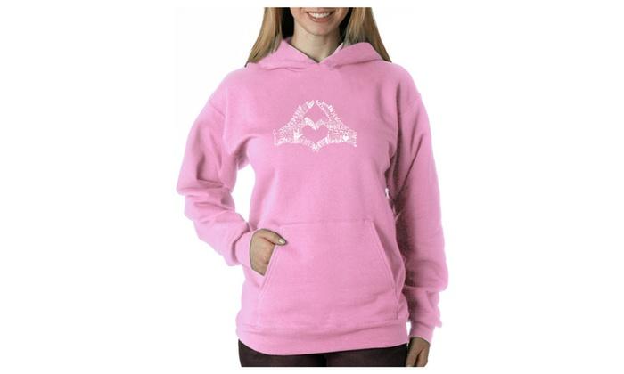 Women's Hooded Sweatshirt -Finger Heart