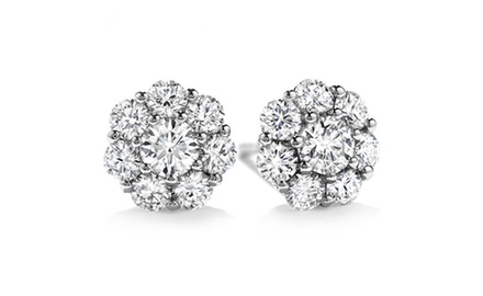 2.00 Ct Ladies Round Cut Diamond Stud Earring In 14 kt White Gold