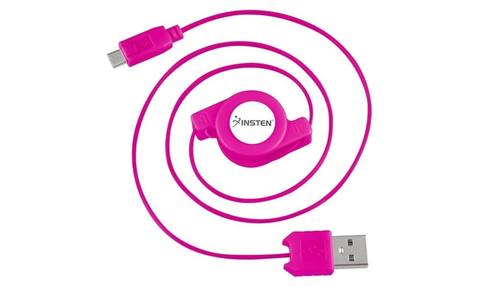 Insten Pink Micro Usb Charger Sync Cable Galaxy Htc One