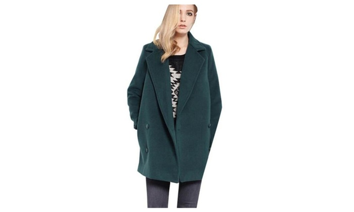 Women's Retro Double-Breasted Thicken Long Coat