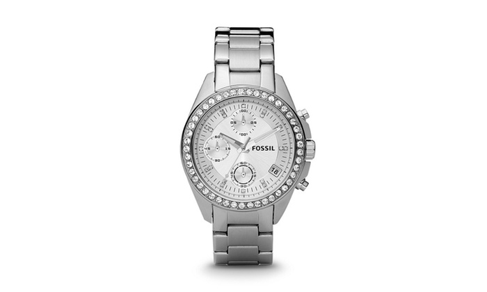 Groupon Goods: ES2681P Decker Chronograph Stainless Steel Watch by Fossil 1 Pc Watch