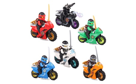 6pcs/set Phantom Ninja Ninjago Motorcycle Minifigures, Lego Compatible 9e454f50-f975-48cd-8b31-f92d71545772