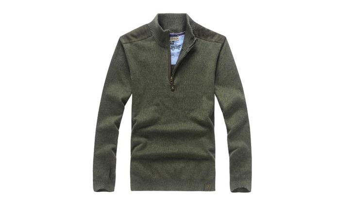 DPN Men's Autumn Fashion CasualSoft Simple Design Lycra Pullovers