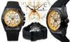 Studer Schild Diesel Chronograph Mens Watch Black/White/Yellow