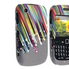 Insten Snap-on Rubber Coated Case For Blackberry Curve 8520 / 8530