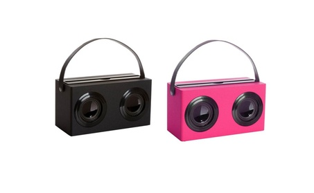 Stereo Bluetooth Wireless Mini Speaker With Leather Carrying Strap a52ebac1-c027-46f3-bb80-1ec9371fecfc
