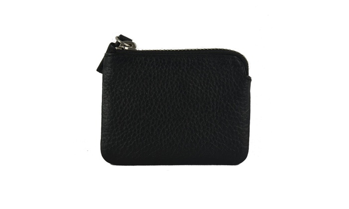 RembrandtHome Leather Credit Card Holder with Zipper Closure
