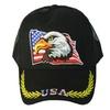 Patriotic USA Eagle Baseball Cap with American Flag