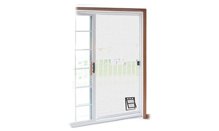 Two Way Door two-way screen door pet access snap flap | groupon