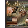 American Expedition Square Tin Art Sign - Elk