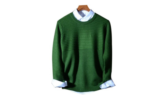 DPN Men's Casual Long Sleeve Thick Sweater Basic Sweaters