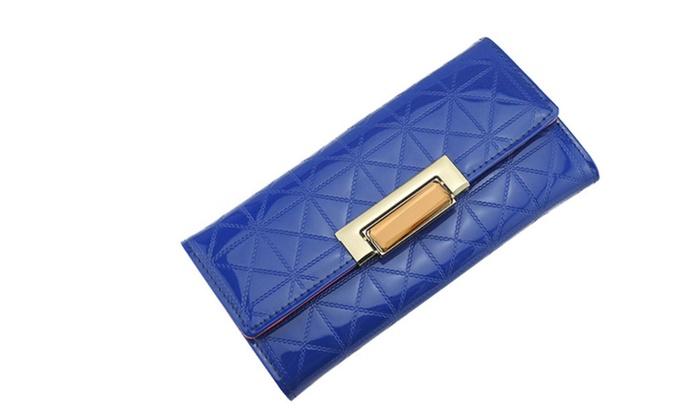 Women's Quilted PU Leather Women Blue Handbag – KMWW1020 – Blue