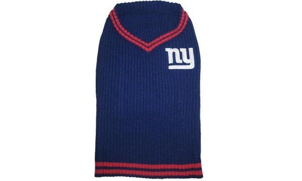 finest selection 2fbd1 d5394 Pets First 849790048133 New York Giants Dog Sweater - Medium