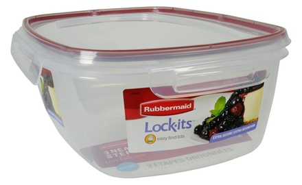Rubbermaid Lock-its Container + Lid 5 Cups (Pack of 3)