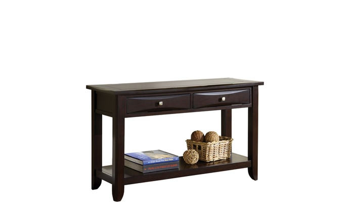 Espresso Foyer Bench : Zuko espresso drawer contemporary entryway table groupon