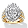 1/3 TCW Diamond Ring 18k Gold over Sterling Silver