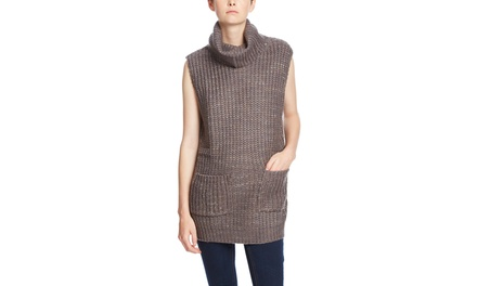 SIX CRISP DAYS Sleeveless Turtleneck Sweater