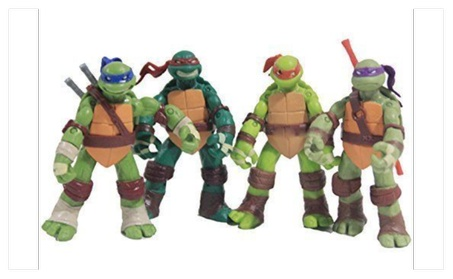"4 PCS/Set 5"" Teenage Mutant Ninja Turtles Battle Figures Classic e24ddf1c-b5a9-47af-a2be-441813239943"