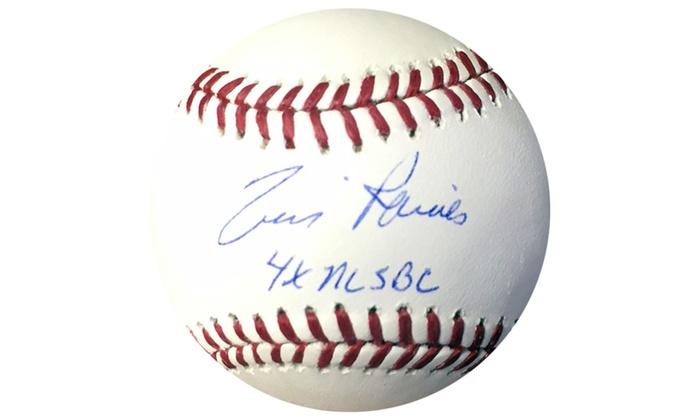 Tim Raines Autographed MLB Ball Inscribed 4x NLSBC